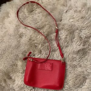 Tory Burch Red Crossbody Bag Gold Colored Hardware